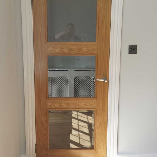 Oak flooring, skirting and door, Gerrards Cross, Bucks